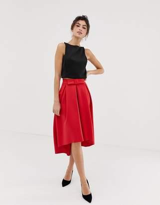 476b7e050a Asos Design DESIGN midi scuba prom skirt with bow front