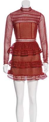 Self-Portrait Textured Mini Dress