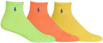 Polo Ralph Lauren Ralph Lauren Men's Socks, Athletic Quarter 3 Pack