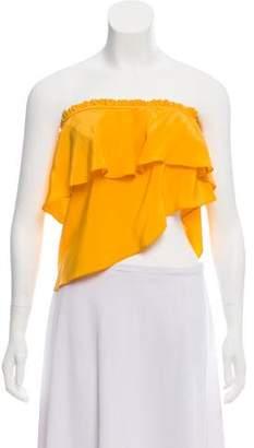 Apiece Apart Silk Asymmetrical Top