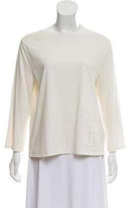 Hermes Long Sleeve Square Neck T-Shirt
