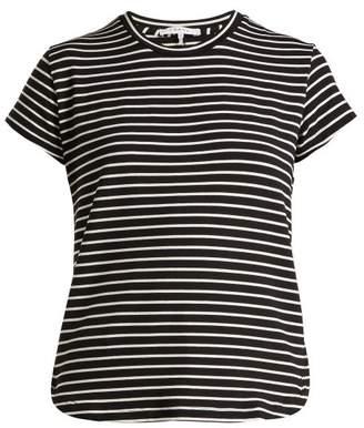 Frame Striped Short Sleeve T Shirt - Womens - Black Stripe