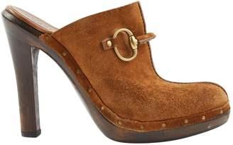 Gucci Brown Suede Mules & Clogs