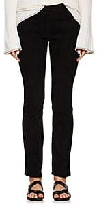 The Row Women's Landly Suede Skinny Jeans - Black