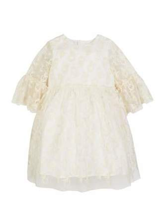 Charabia 3/4-Sleeve Lace Dress, Size 10-12