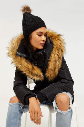Ardene Faux Fur Hooded Parka