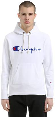 Champion Hooded Logo Cotton Sweatshirt