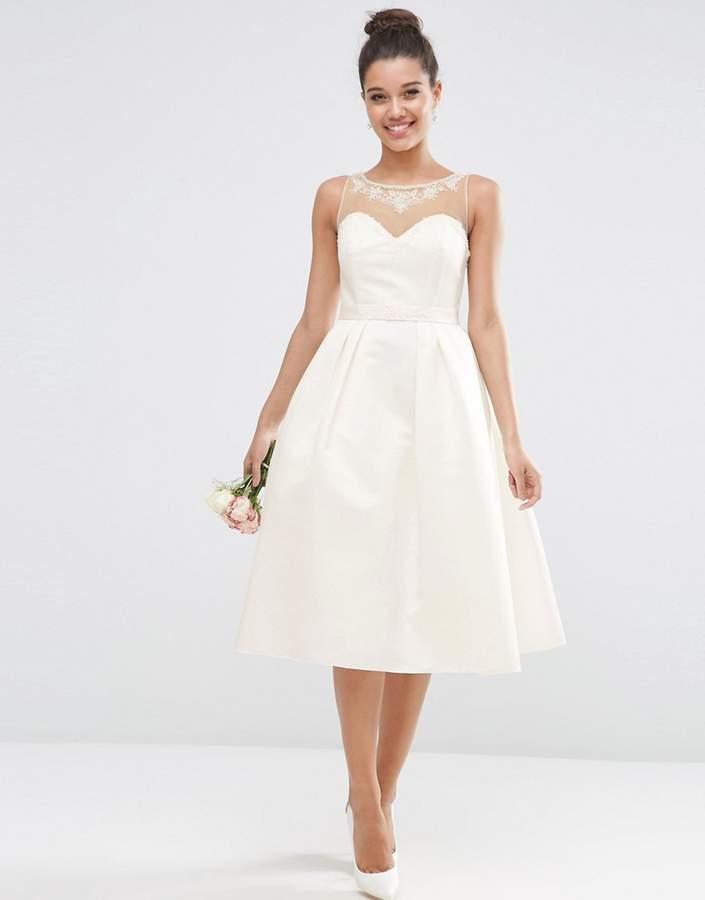AsosASOS BRIDAL Crystal Sweetheart Midi Prom Dress