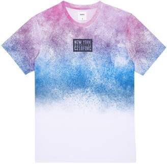 Dorothy Perkins Womens **Burton Pink And Blue Paint Splatter Print T