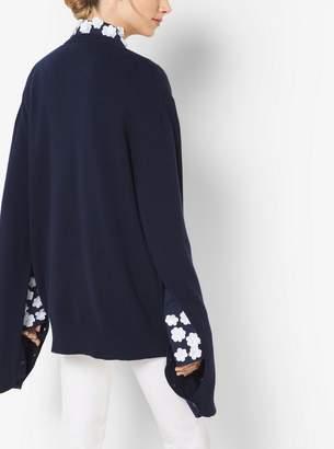 Michael Kors Love Intarsia Cashmere Oversized Pullover