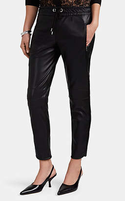 HIRAETH Women's Bella Faux-Leather Jogger Pants - Black