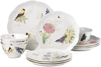 Lenox Butterfly Meadow Flutter 12-Pc. Dinnerware Set, Service for 4