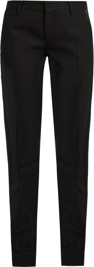 Saint LaurentSAINT LAURENT Le Smoking skinny wool trousers