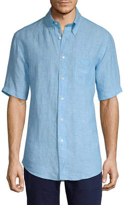 Brooks Brothers Linen Short Sleeve Sport Shirt