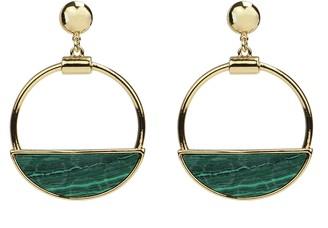 Ben-Amun Malachite Drop Hoop Earrings