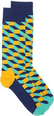 Happy Socks Filled Optic Crew Socks - Men's
