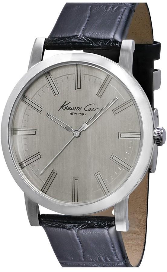 Kenneth Cole New York Slim Leather Strap Watch, 42mm