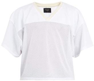 Fear Of God V Neck Mesh Jersey T Shirt - Mens - White