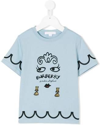 Burberry face print T-shirt