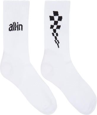 all in White Logo Socks $25 thestylecure.com