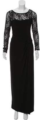 Chaps Lace-Accented Midi Dress w/ Tags