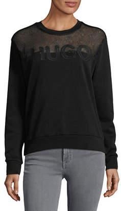 HUGO Nicta Jersey Logo Sweatshirt