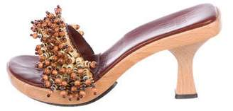 Anna Sui Embellished Slide Sandals