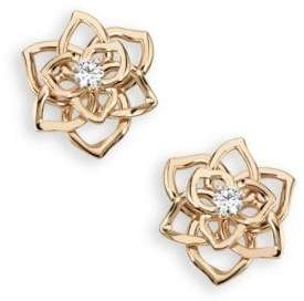 Piaget Rose Diamond& 18K Rose Gold Stud Earrings