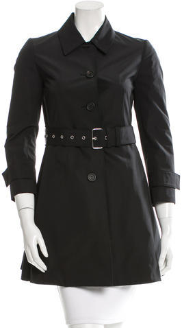 pradaPrada Belted Button-Up Coat w/ Tags