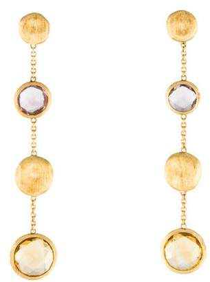 Marco Bicego 18K Amethyst & Citrine Drop Earrings