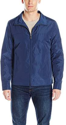 Perry Ellis Men's Poly Zip Front Packable Jacket