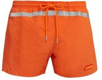 Heron Preston Reflective Stripe Swim Shorts - Mens - Orange