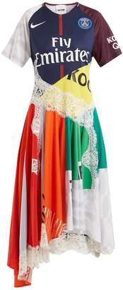 KOCHÉ X Paris Saint-Germain patchwork dress