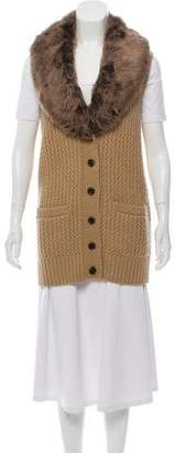 Ralph Lauren Fur-Lined Knit Vest