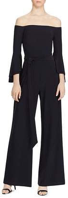 Lauren Ralph Lauren Off-The-Shoulder Jumpsuit $165 thestylecure.com