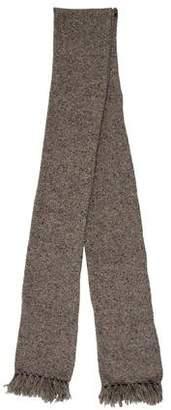 eskandar Wool Fringe-Trimmed Scarf