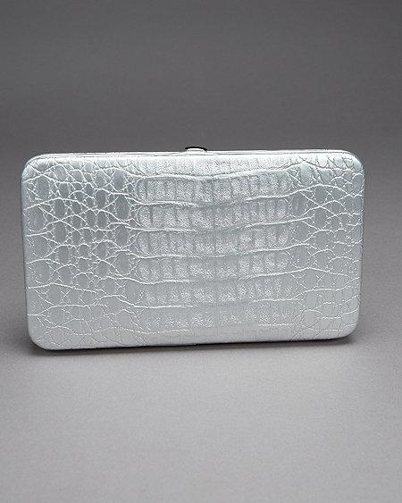 Silver Croc Wallet