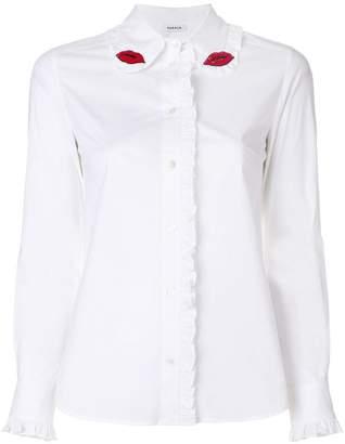 P.A.R.O.S.H. lips beaded shirt