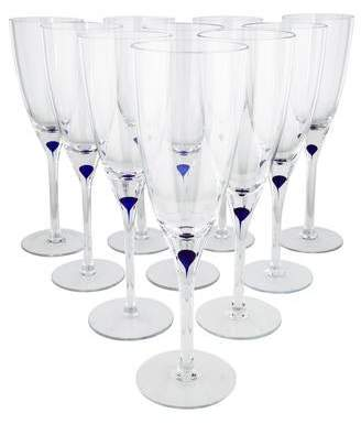 Orrefors Intermezzo Champagne Flutes