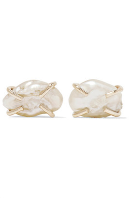 Melissa Joy Manning - 14-karat Gold Pearl Earrings