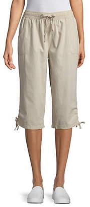 Karen Scott Ruched Leg Capris