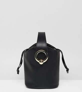 561295034a7 Aldo Bankston black bucket bag with gold metal hardware