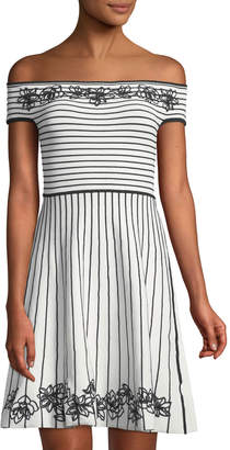 Zac Posen Becca Off-The-Shoulder Fit-&-Flare Dress