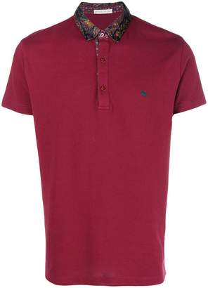 Etro paisley collar polo shirt