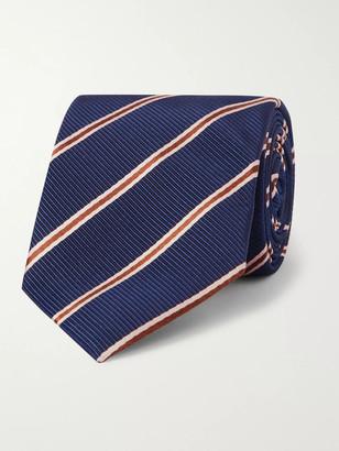 Kingsman + Drake's 8cm Striped Silk And Cotton-Blend Faille Tie