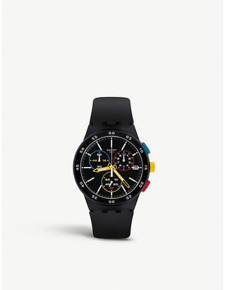 SUSB416 Black-One silicone watch
