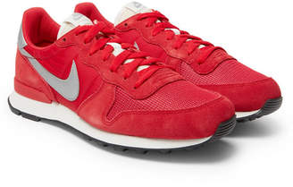 Nike Internationalist Leather, Shell And Mesh Sneakers
