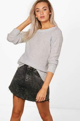 boohoo Oversized Rib Cuff Soft Knit Jumper