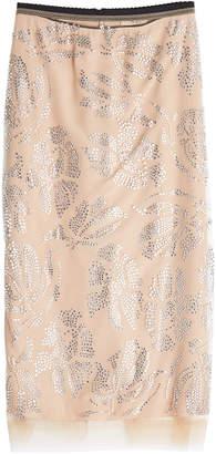 N°21 N21 Embellished Skirt with Chiffon Hem