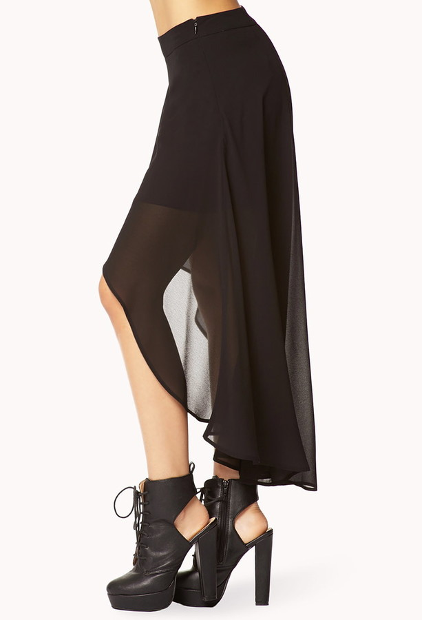 Forever 21 High-Low Chiffon Skirt